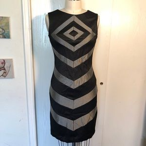 Chevron Suzi Chin midi party dress